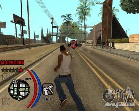 C-HUD Carbon pour GTA San Andreas deuxième écran