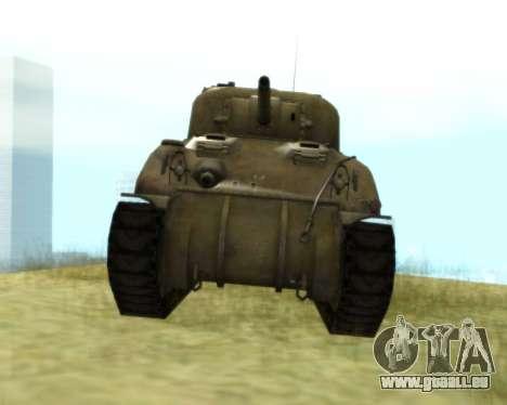 M4 Sherman pour GTA San Andreas laissé vue