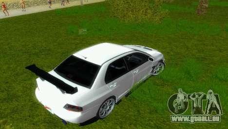 Mitsubishi Lancer Evolution VIII Type 8 pour GTA Vice City vue latérale