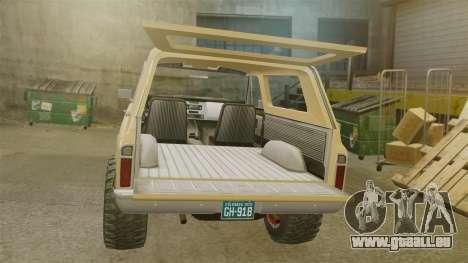 Chevrolet Blazer K5 1972 pour GTA 4 est une vue de l'intérieur