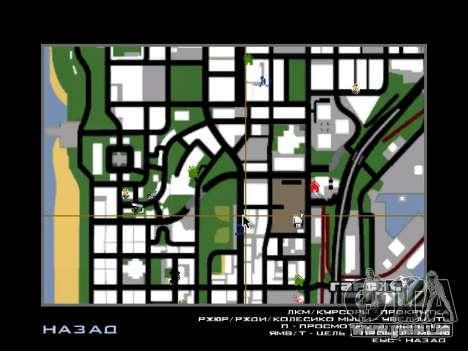 Neue Motorhaube und Symbole auf der Karte für GTA San Andreas zweiten Screenshot