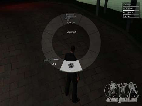 GTA V Weapon Scrolling für GTA San Andreas her Screenshot