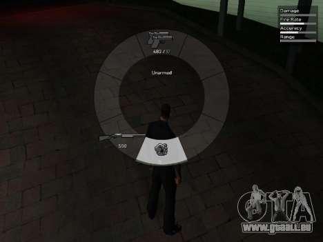 GTA V Weapon Scrolling pour GTA San Andreas quatrième écran