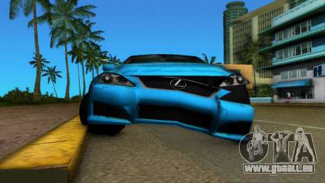 Lexus IS-F für GTA Vice City Innenansicht