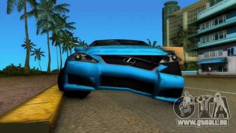 Lexus IS-F pour une vue GTA Vice City de l'intérieur