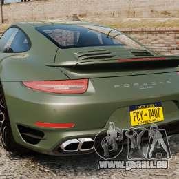 Porsche 911 Turbo 2014 [EPM] Ghosts pour GTA 4 Vue arrière de la gauche
