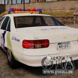 Chevrolet Caprice Police 1991 v2.0 N.o.o.s.e für GTA 4 hinten links Ansicht