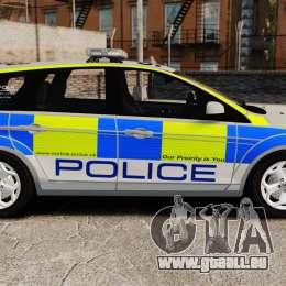 Ford Focus Estate Norfolk Constabulary [ELS] pour GTA 4 est une gauche