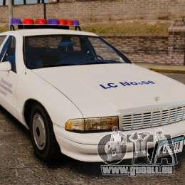 Chevrolet Caprice Police 1991 v2.0 N.o.o.s.e pour GTA 4