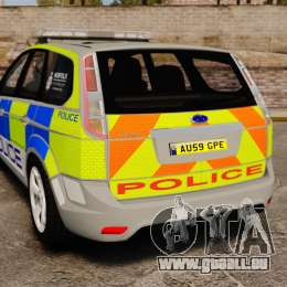 Ford Focus Estate Norfolk Constabulary [ELS] pour GTA 4 Vue arrière de la gauche