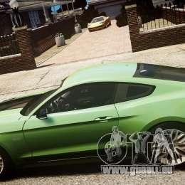 Ford Mustang GT 2015 für GTA 4 Rückansicht