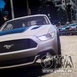 Ford Mustang GT 2015 für GTA 4 Seitenansicht