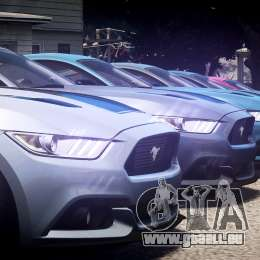 Ford Mustang GT 2015 für GTA 4 obere Ansicht
