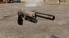 Beretta 92 halbautomatische Pistole mit Schalldä