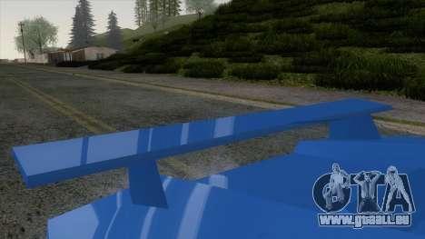 Infernus 80s pour GTA San Andreas vue de droite