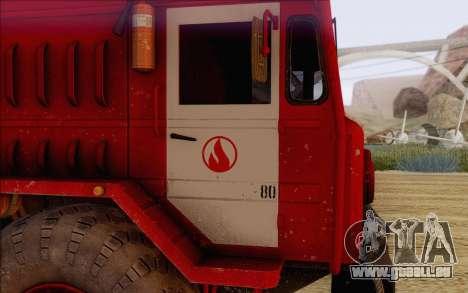 MAZ 535 pompier pour GTA San Andreas vue de droite