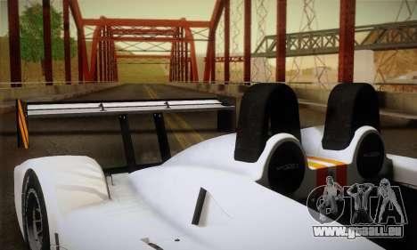 Caterham-Lola SP300.R pour GTA San Andreas vue de dessus