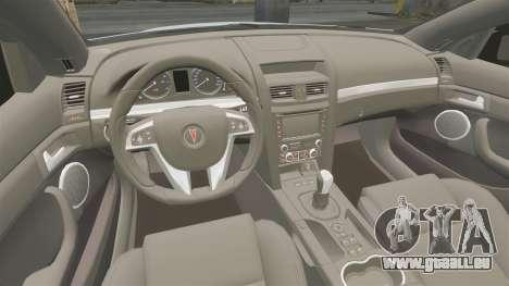 Pontiac G8 Sport Truck 2010 pour GTA 4 est une vue de l'intérieur