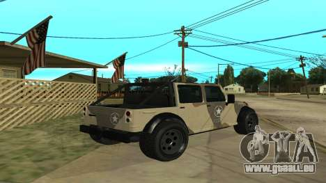 Crusader GTA 5 pour GTA San Andreas vue de droite