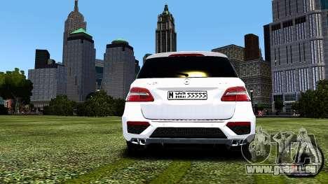 Mercedes-Benz ML63 AMG pour GTA 4 est un droit