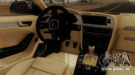 Audi S4 für GTA San Andreas Innenansicht