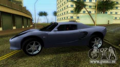 Lotus Elise pour GTA Vice City sur la vue arrière gauche