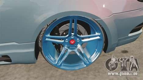 BMW M3 GTS Widebody pour GTA 4 Vue arrière