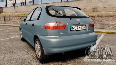 Daewoo Lanos 1997 PL pour GTA 4 Vue arrière de la gauche
