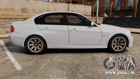 BMW 330i Unmarked Police [ELS] pour GTA 4 est une gauche