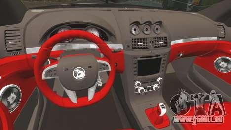 Holden HSV W427 2009 pour GTA 4 Vue arrière