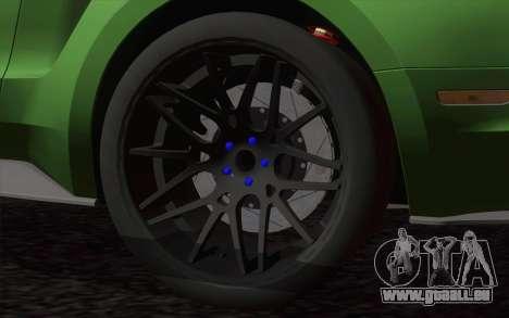 Ford Mustang GT 2013 pour GTA San Andreas sur la vue arrière gauche