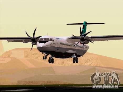 ATR 72-500 WestJet Airlines pour GTA San Andreas vue de dessous