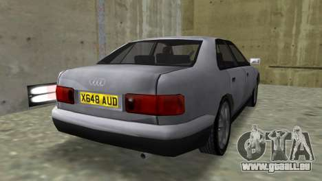 Audi A8 VCM pour une vue GTA Vice City de la gauche