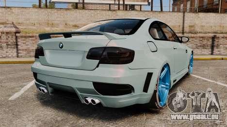 BMW M3 GTS Widebody pour GTA 4 Vue arrière de la gauche