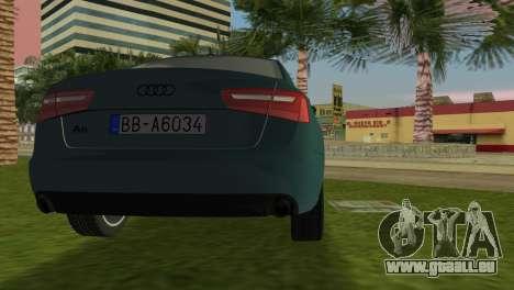 Audi A6 2012 pour GTA Vice City sur la vue arrière gauche