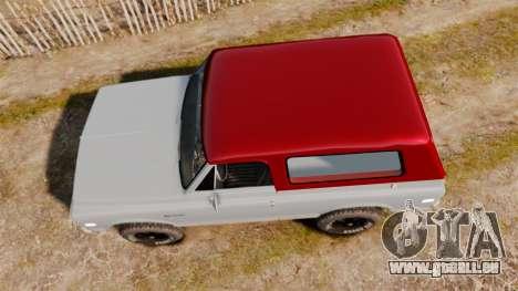 Chevrolet K5 Blazer pour GTA 4 est un droit