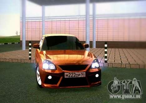 VAZ-2172 Coupé Sport pour GTA San Andreas sur la vue arrière gauche