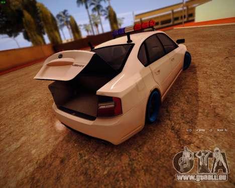 Subaru Legacy für GTA San Andreas Innenansicht