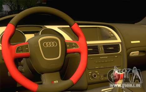 Audi S5 pour GTA San Andreas vue intérieure