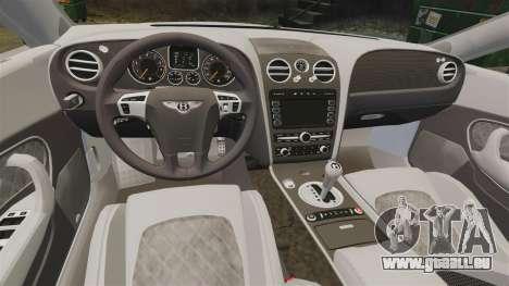 Bentley Continental SS v3.0 pour GTA 4 est une vue de l'intérieur