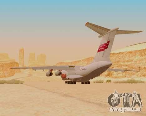 Il-76td IlAvia für GTA San Andreas Rückansicht