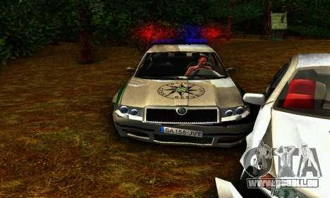 Skoda Superb POLICIE für GTA San Andreas Innenansicht