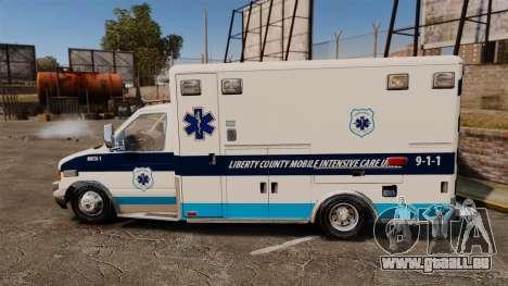 Ford E-350 Liberty Ambulance [ELS] pour GTA 4 est une gauche