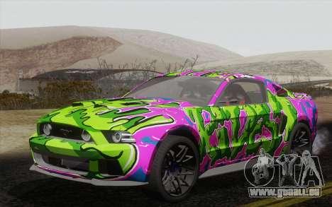 Ford Mustang GT 2013 für GTA San Andreas Innenansicht