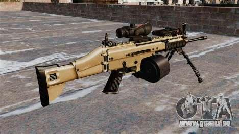 Machine d'assaut FN SCAR-L C-Mag pour GTA 4 secondes d'écran