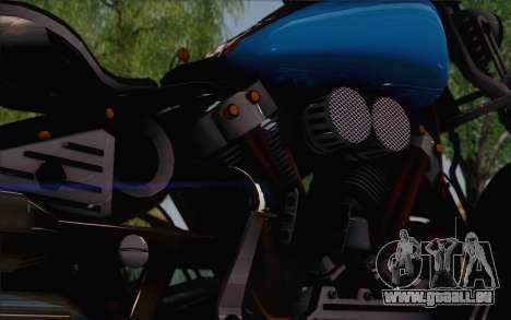 Harley-Davidson Knucklehead pour GTA San Andreas sur la vue arrière gauche