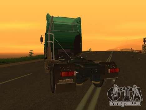 MAZ 5440 pour GTA San Andreas sur la vue arrière gauche