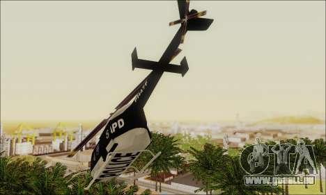 Police Maverick pour GTA San Andreas vue de droite