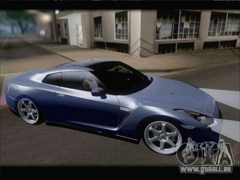 Nissan GT-R Spec V Stance für GTA San Andreas Rückansicht