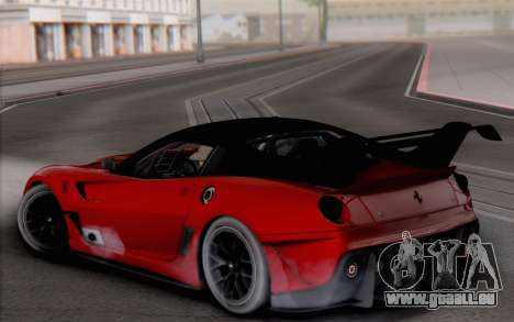 Ferrari 599XX Evolution für GTA San Andreas linke Ansicht